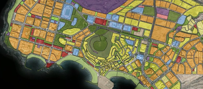 Mapa de las parcelas del municipio de Arona