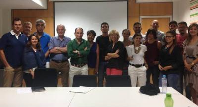 técnicos de Gesplan durante el taller formativo